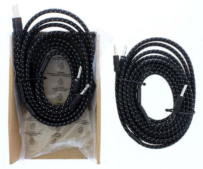 Cablu boxe Avinity mufat cu conector tip banana, 2 x 2.50 mm, 3 metri [2]