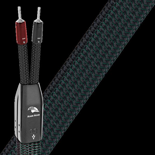 Cablu de boxe High-End Audioquest Robin Hood ZERO BiWire Combo (DBS Carbon) 0