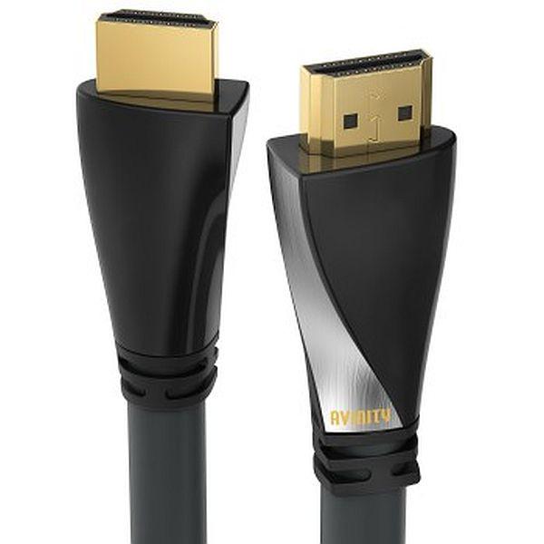 Cablu HDMI Avinity HDMI tata - HDMI tata, unghi 90 grade, conectori auriti, Ethernet [1]