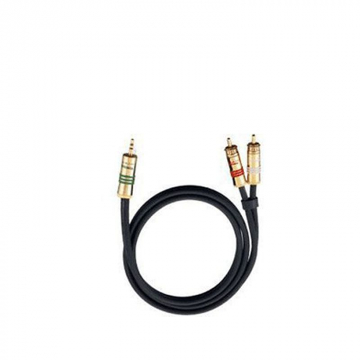 Cablu Oehlbach 2056 jack 3.5mm - 2 RCA 1m 0