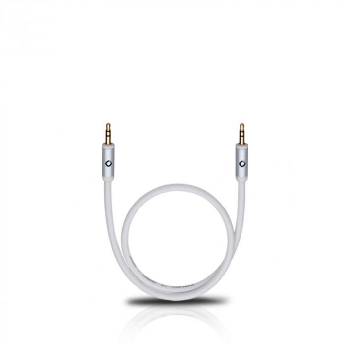 Cablu Oehlbach 60010 3.5mm - 3.5mm 0.5m alb 0