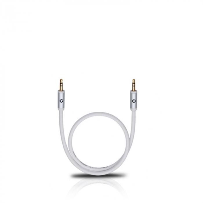 Cablu Oehlbach 60012 3.5mm - 3.5mm 1.5m alb 0