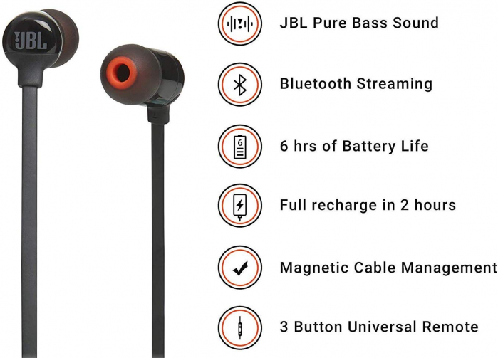 Casti In Ear wireless JBL Tune 115 BT 1