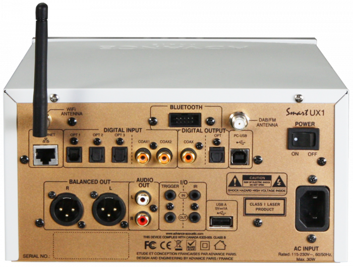 CD DAC Preamplificator Streamer Advance Paris UX1 1