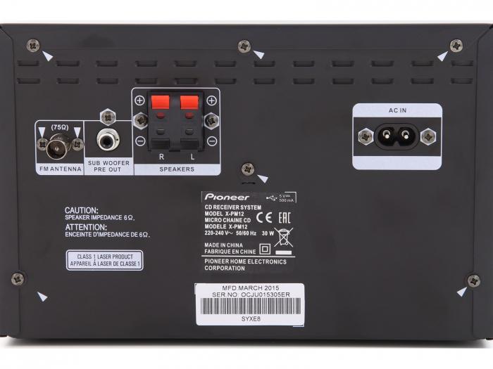 Minisistem stereo Pioneer X-PM12 [2]