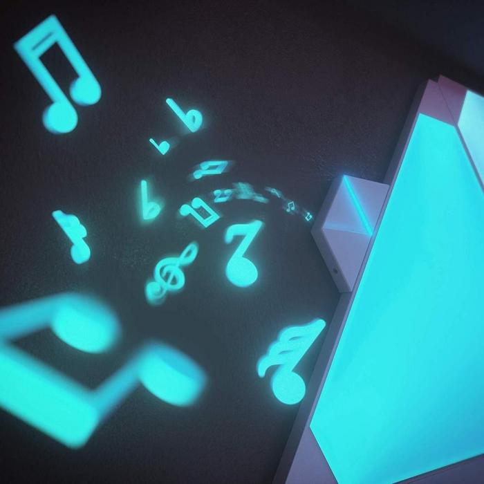 Kit 9 panouri luminoase modulare inteligente, Nanoleaf Aurora Rhythm, LED RGBW, Wi-Fi 9