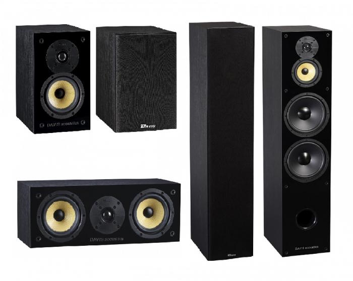 Pachet Boxe Davis Acoustics Balthus 70 + Boxe Davis Acoustics Balthus 30 + Boxa Davis Acoustics Balthus 10 0