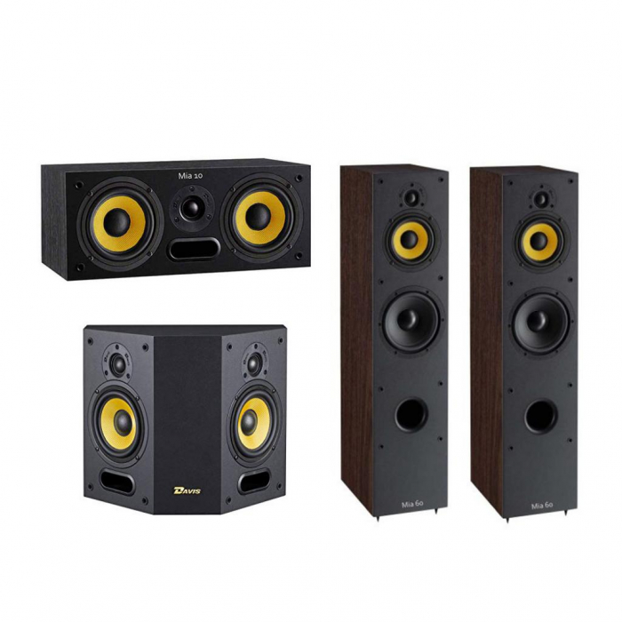 Pachet Boxe Davis Acoustics Mia 60 + Boxe Davis Acoustics Mia 40 + Boxa Davis Acoustics Mia 10 0