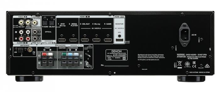 Receiver AV Denon AVR-X550BT 1