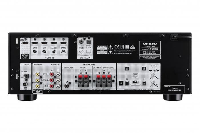 Receiver Onkyo TX-SR252 3