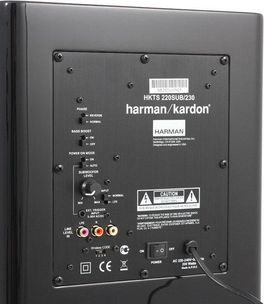 Sistem de boxe 5.1 Harman Kardon HKTS 65BQ 2