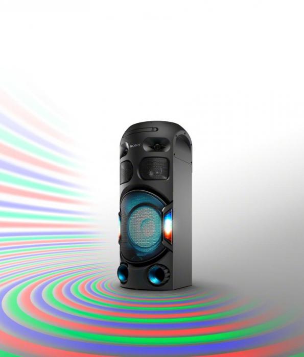Sistem audio High Power Sony MHCV42D, Jet Bass Booster, Hi-Fi, Bluetooth, NFC, Dj Effects, USB, DVD, Party music, Party lights 4