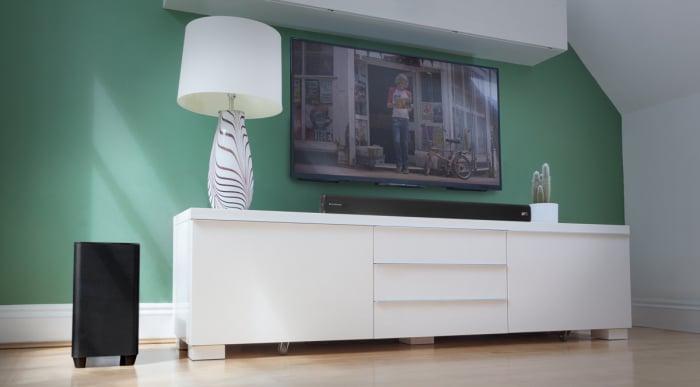 Soundbar Cambridge Audio TVB2-V2,  Subwoofer Wireless, Bluetooth si NFC, 120 W 1