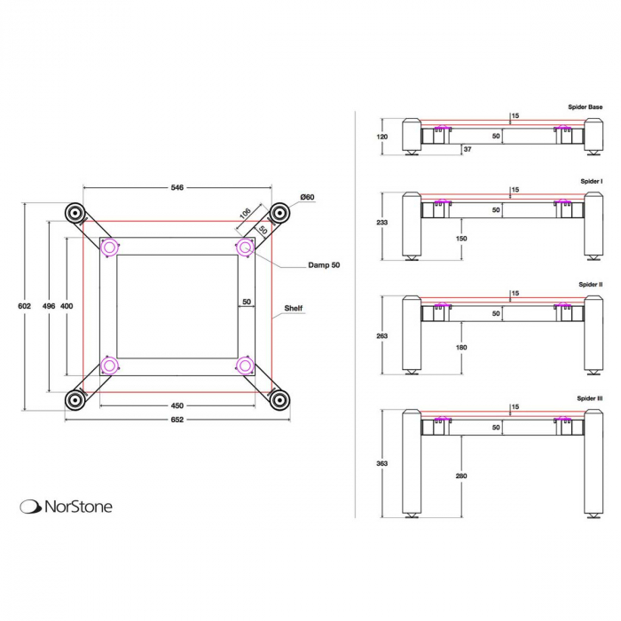 Stand HiFi Norstone Spider II  (un modul) 2