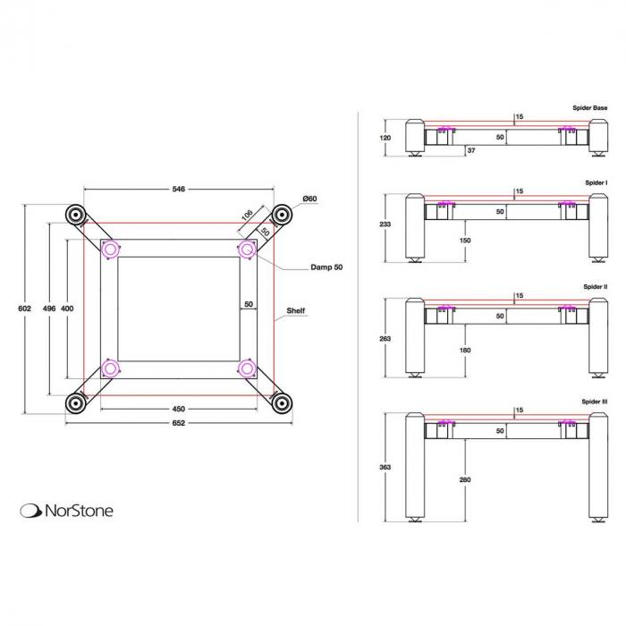Stand HiFi Norstone Spider III (un modul) 2