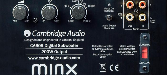 Subwoofer Cambridge Audio Minx X201 1