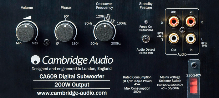 Subwoofer Cambridge Audio Minx X301 1