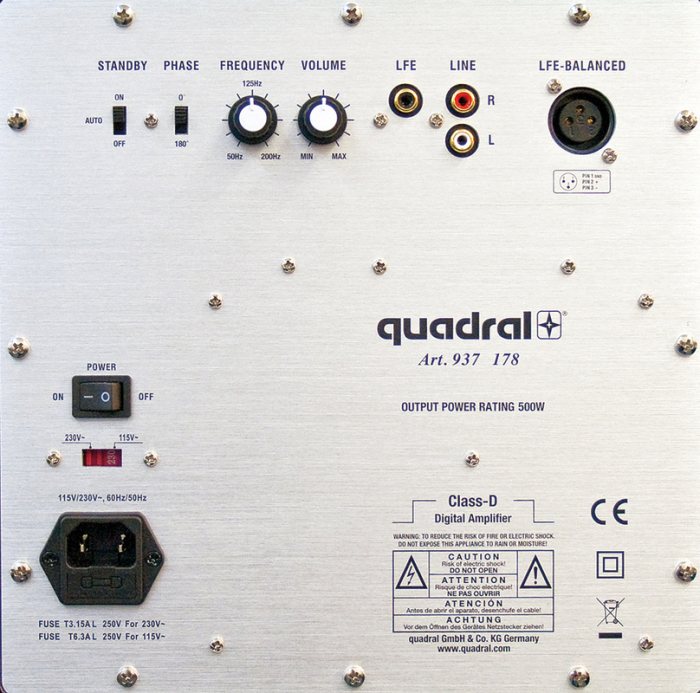 Subwoofer Quadral Qube 12 Active 1