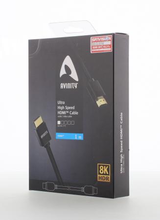 Cablu HDMI Avinity HDMI tata - HDMI tata, 8K Ultra High Speed, conectori auriti [2]