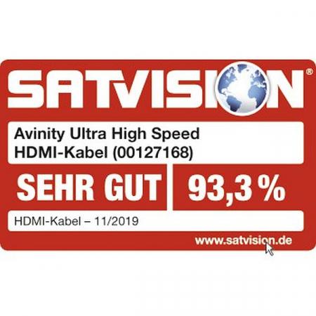 Cablu HDMI Avinity HDMI tata - HDMI tata, 8K Ultra High Speed, conectori auriti [3]