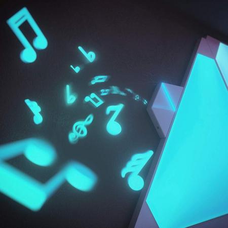 Kit 9 panouri luminoase modulare inteligente, Nanoleaf Aurora Rhythm, LED RGBW, Wi-Fi9