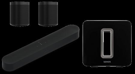 Sonos Beam + 2 x Sonos One SL + Sonos Sub