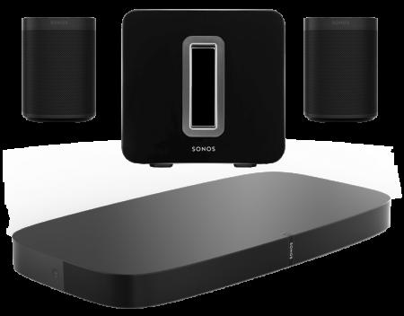 Sonos Playbase + 2 x Sonos One SL + Sonos SUB