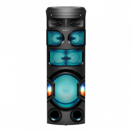Sistem audio High Power Sony MHCV82D, Jet Bass Booster, Sunet 360 grade, Hi-Fi, Bluetooth, NFC, Dj Effects, USB, DVD, Party music, Party lights