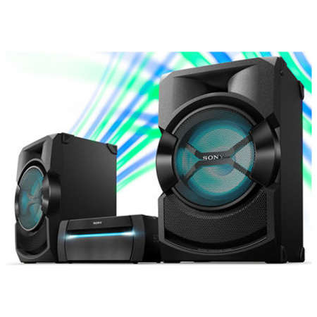 Sony SHAKEX30PN, Sistem Audio de mare putere cu DVD, Bluetooth cu LDAC, Efecte DJ, Functie Karaoke, NFC, BLACK1