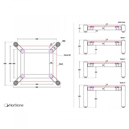 Stand HiFi Norstone Spider III (un modul)2