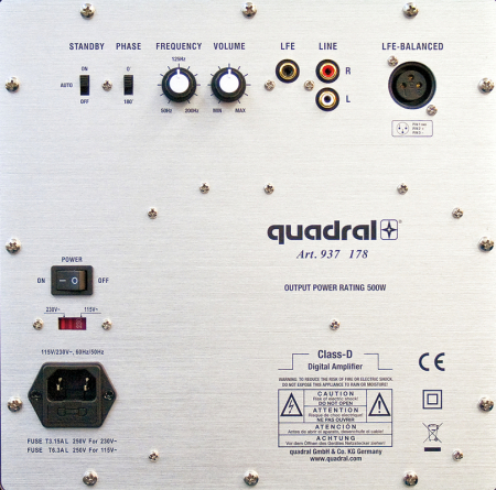 Subwoofer Quadral Qube 12 Active1