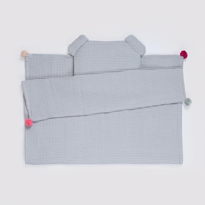 Set Pătură & Pernă, Gri 0