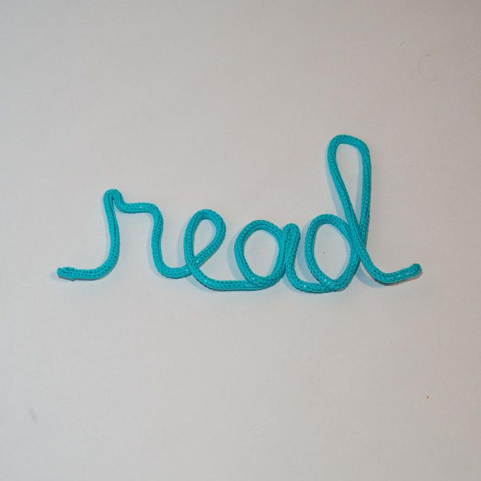 """Decor Perete """"read"""" [1]"""