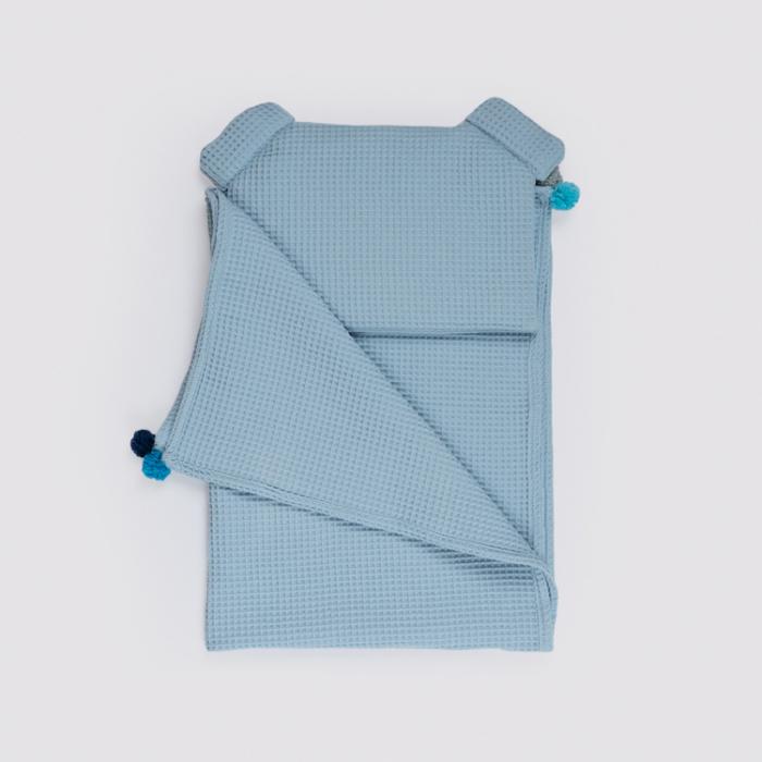Set Pătură & Pernă, Albastru 4