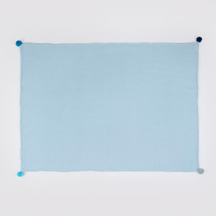 Set Pătură & Pernă, Albastru 1