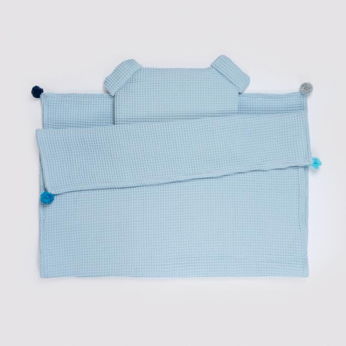 Set Pătură & Pernă, Albastru 0