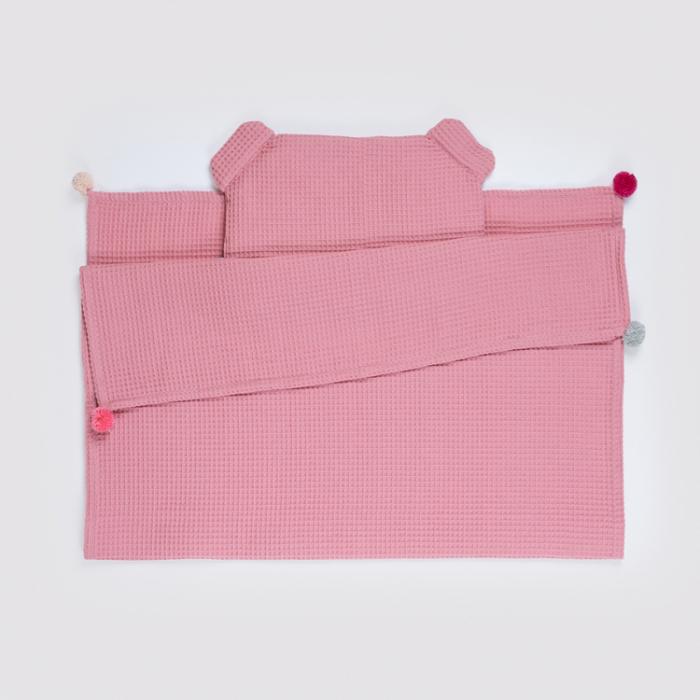 Set Pătură & Pernă, Roz 0