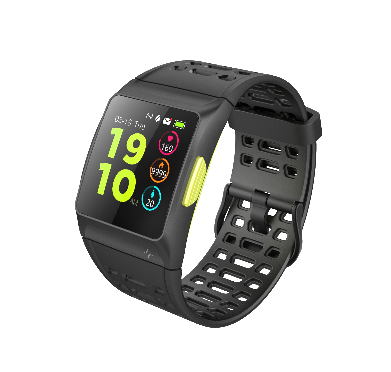 Bratara fitness MoreFIT™ P1 Plus,  BT 4.0, puls, tensiune, oxigen, nivel oboseala, stand-by 20 zile, Android, iOS, notificari, remote camera, negru 0