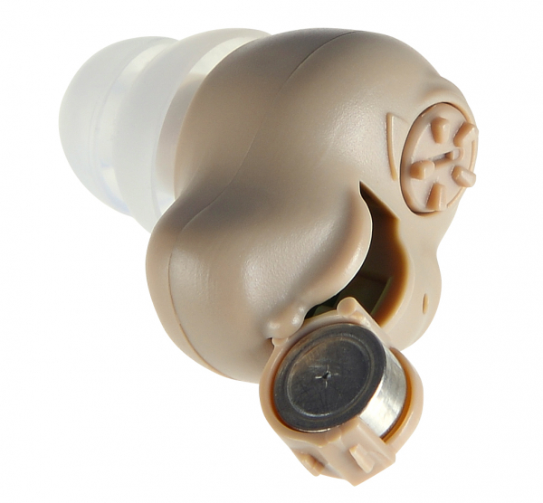 Amplificator de sunet GreatEars™ G15 Mini Premium , cu baterii , autonomie pana la 200h, 120 dB, 3 accesorii, pentru adulti , crem 1
