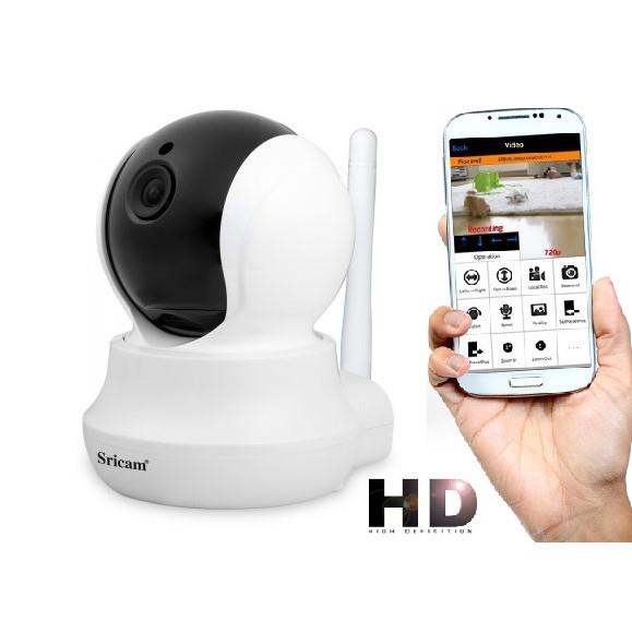 Baby Monitor Wireless Sricam™ SP020 , Conectare Telefon, Monitorizare Video Audio Bebelusi, sunet bidirectional, push to talk, rotire automata, senzor miscare, Alba 0