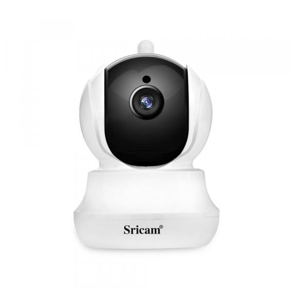 Baby Monitor Wireless Sricam™ SP020 , Conectare Telefon, Monitorizare Video Audio Bebelusi, sunet bidirectional, push to talk, rotire automata, senzor miscare, Alba 2