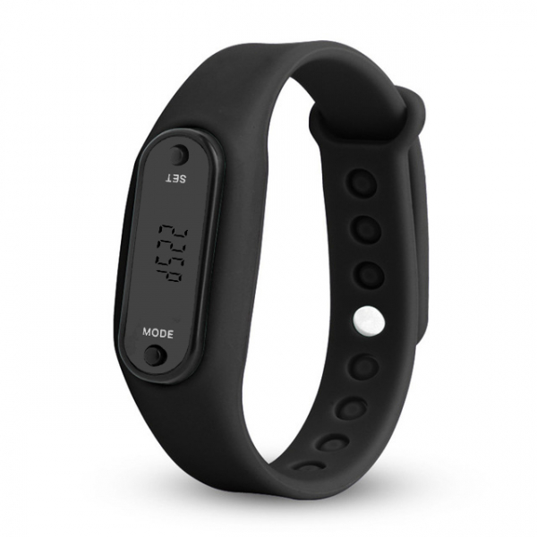 Bratara fitness MoreFIT™ B31 , Ecran LCD , monitorizare dinamica plus, pedometru, numerotare pasi, auto sleep, detectare primul pas jogging , neagru 0