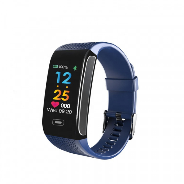 Bratara fitness MoreFIT™ CK18S, BT 4.0, Puls, Pedometru, Display color, Ritm cardiac, Monitorizare somn, Mod Sport, Notificari Apeluri si Mesaje, Stand-by 20 zile, Android, iOS, Albastru 0