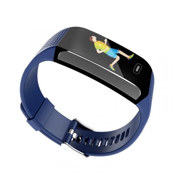 Bratara fitness MoreFIT™ CK18S, BT 4.0, Puls, Pedometru, Display color, Ritm cardiac, Monitorizare somn, Mod Sport, Notificari Apeluri si Mesaje, Stand-by 20 zile, Android, iOS, Albastru 2