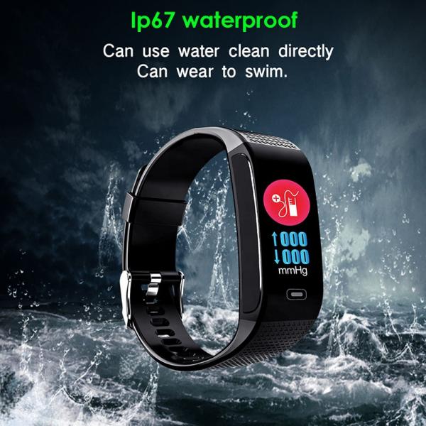 Bratara fitness MoreFIT™ CK18S, BT 4.0, Puls, Pedometru, Ritm cardiac, Display color, Monitorizare somn, Mod Sport, Notificari Apeluri si Mesaje, Stand-by 20 zile, Android, iOS, Negru [2]