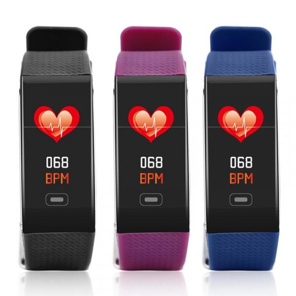Bratara fitness MoreFIT™ CK18S, BT 4.0, Puls, Pedometru, Ritm cardiac, Display color, Monitorizare somn, Mod Sport, Notificari Apeluri si Mesaje, Stand-by 20 zile, Android, iOS, Mov [1]