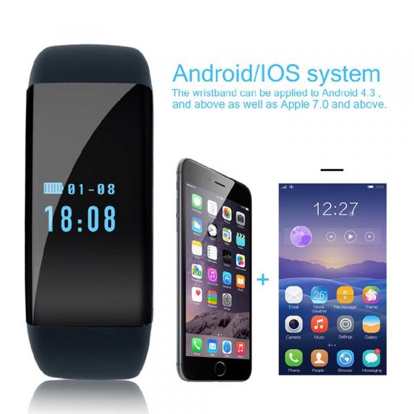 Bratara fitness MoreFIT™ D21, BT 4.0, Pedometru, Puls, Tensiune, Nivel oboseala, Monitorizare somn, Calendar, Notificari apeluri, Stand-by 15 zile, Android, iOS, Notificari, Remote camera, Negru 2