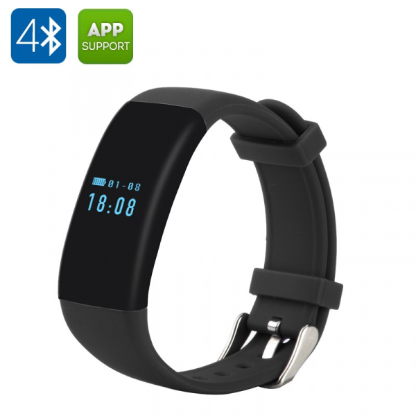 Bratara fitness MoreFIT™ D21, BT 4.0, Pedometru, Puls, Tensiune, Nivel oboseala, Monitorizare somn, Calendar, Notificari apeluri, Stand-by 15 zile, Android, iOS, Notificari, Remote camera, Negru 1