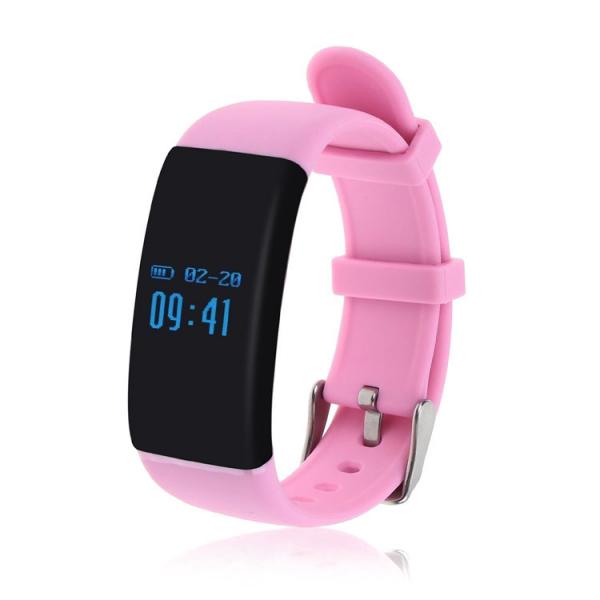 Bratara fitness MoreFIT™ D21, BT 4.0, Pedometru, Puls, Tensiune, Nivel oboseala, Monitorizare somn, Calendar, Notificari apeluri, Stand-by 15 zile, Android, iOS, Notificari, Remote camera, Roz 4