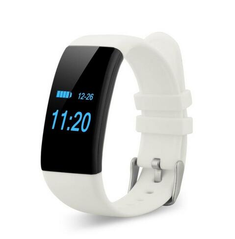 Bratara fitness MoreFIT™ D21, BT 4.0, Pedometru, Puls, Tensiune, Nivel oboseala, Monitorizare somn, Calendar, Notificari apeluri, Stand-by 15 zile, Android, iOS, Notificari, Remote camera, Alb 0